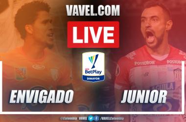 Resumen Envigado (2-2) Junior en la fecha 6 por Liga BetPlay 2021-I