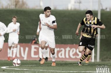 Enzo, en un partido con el Castilla. / Foto: Dani Mullor (VAVEL)