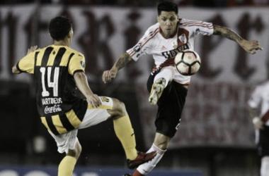 Pérez mostró poco (Foto: La Nación).