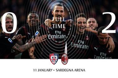 Serie A - Il Milan cambia modulo e torna alla vittoria: battuto il Cagliari per 2-0