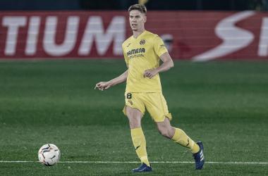 """<p class=""""MsoNormal"""">Juan Foyth a lo largo de un partido / Foto: Villarreal C.F&nbsp;<o:p></o:p></p>"""