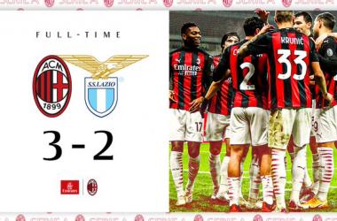 Serie A, ci pensa ancora Theo: il Milan batte la Lazio per 3-2