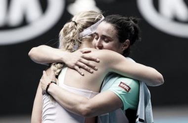 O abraço. (Foto: Divulgação/Australian Open)