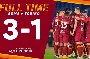 Serie A, la Roma batte il Torino all'Olimpico