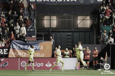 """<p class=""""MsoNormal"""">Los jugadores celebran el gol de Pau (Temporada 19-20) / Foto: LaLiga</p>"""