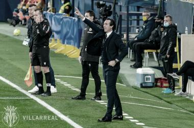 """<p class=""""MsoNormal"""">Unai Emery durante el partido / Foto: Villarreal C.F</p>"""