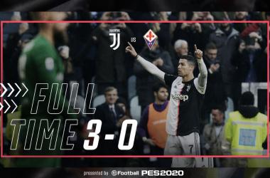 Doppio Ronaldo e De Ligt abbattono la Fiorentina: la Juventus vince 3-0