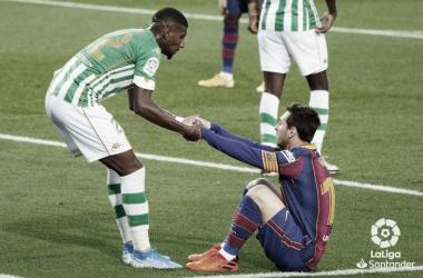 Emerson y Messi en Camp Nou (2020/21) | Foto: @Emerson_Royal22