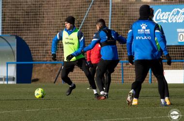 Instantánea del entrenamiento | Fuente: www.deportivoalaves.com