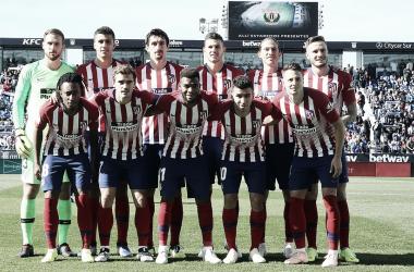 Once inicial rojiblanco/ Foto: Atlético de Madrid.