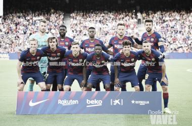 Once titular del FC Barcelona en el Gamper. FOTO. Noelia Déniz.