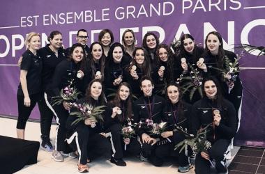 España consigue cinco medallas en las World Series de natación artística de París