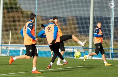 Instantánea de la sesión de trabajo matutina llevada a cabo en las instalaciones deportivas de Ibaia | Fuente: www.deportivoalaves.com