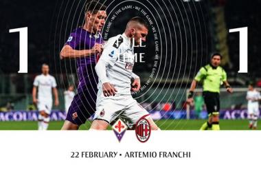 Serie A - Il Milan va in vantaggio, ma non gestisce: finisce 1-1 con la Fiorentina