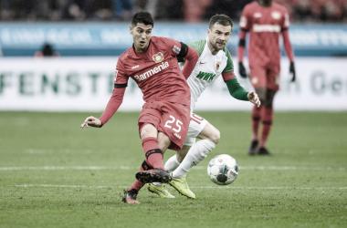 Exequiel Palacios debutó en Bundesliga
