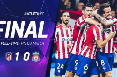 L'Atletico sorprende il Liverpool 1-0 e tutto rimandato ad Anfield