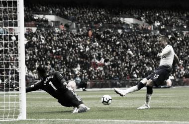 Eric Dier marcó el único tanto del partido | Foto: Premier League