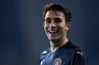 <div>PORTO, PORTUGAL - DECEMBER 01: Eric Garcia of Manchester City reacts during the UEFA Champions League Group C stage match between FC Porto and Manchester City at Estadio do Dragao on December 01, 2020 in Porto, Portugal. (Photo by Jose Manuel Alvarez/Quality Sport Images/Getty Images)</div>