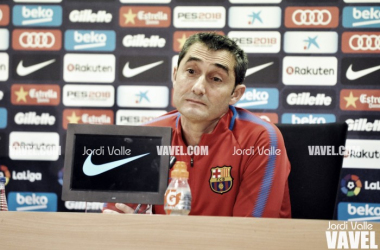 Ernesto Valverde, en rueda de prensa | Foto: Jordi Valle (VAVEL.com)