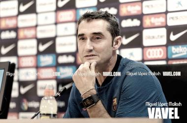 Ernesto Valverde, en rueda de prensa. FOTO: Miguel López Mallach