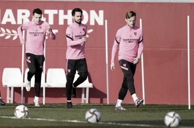 Entrenamiento previo al partido | Foto: Sevilla FC