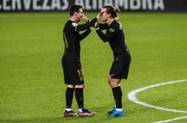 Messi y Griezmann tumban a un tímido Granada. Foto: FC Barcelona