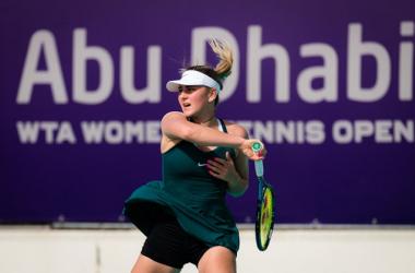WTA Abu Dhabi: Marta Kostyuk reaches first career semifinal after defeating Sara Sorribes Tormo