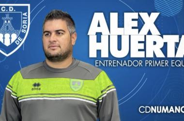 Álex Huerta no dio con la tecla. Imagen: Numancia.