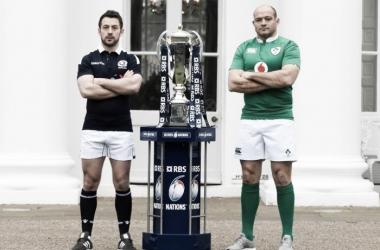 Foto: el Cardo y el Trébol, listos para verse las caras en Murrayfield. Crédito: Planet Rugby