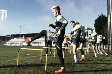 Los jugadores del Lugo vuelven a los entrenamientos// Fuente: CD Lugo
