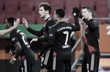 Robert Lewandowski fue el encargado de meter el gol de la victoria para el conjunto bávaro. / Twitter: Bayern Múnich oficial