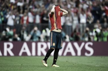 El lamento de Koke por el penal fallado (Foto: Sitio Oficial FIFA)