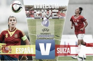 Resultado España - Suiza en la Final del Europeo Femenino Sub-17 (5-2)
