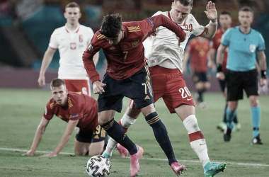 España vs Polonia, jornada 2 Eurocopa // Fuente: SEFUTBOL