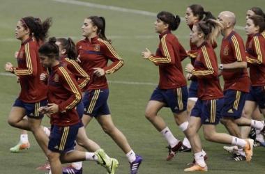 La selección femenina sub 17 culminó en Costa Rica ocho meses de resultados sobresalientes.   Foto: Jeffrey Arguedas (EFE).
