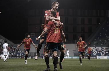 Los españoles plantaron cara a la selección francesa, consiguiendo un marcador de 4-1 | Foto: UEFA.com