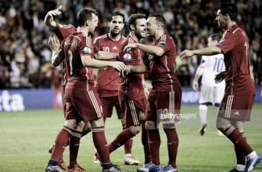 A seleção espanhola acabou em primeiro lugar do seu grupo, com 27 pontos
