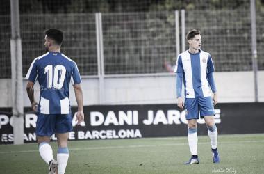Doncel y Lozano, en un partido de esta temporada / Foto: Noelia Déniz (VAVEL).