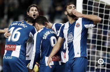 Los jugadores del Espanyol celebrando un gol. Foto: LaLiga