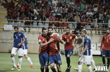 España – Liechtenstein: puntuaciones de España, jornada 1 Clasif. Rusia 2018