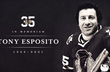 Fallece Tony Esposito, el legendario portero de Chicago Blackhawks