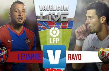 Resultado Levante 2-1 Rayo Vallecano en Liga 2015: poco fútbol y mucha animación
