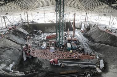 Obras del nuevo estadio de Seattle | Foto: NHL.com