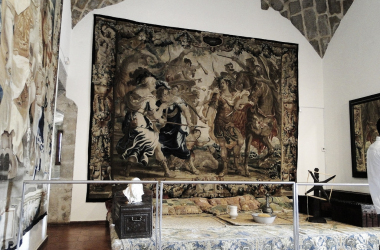 Estrado de Damas en el Castillo de los Mendoza en Manzanares el Real. Imagen de Santiago López Pastor en Flickr.