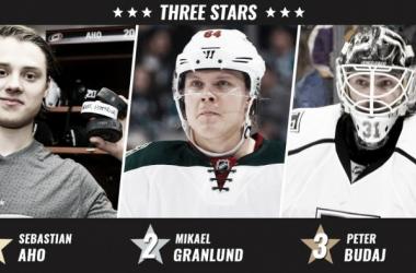 Aho,Granlund y Budaj Estrellas de la Semana - www.nhl.com