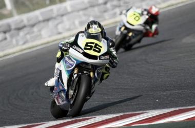 Medina en la carrera de Cataluña. | Fuente: Team Stratos Web