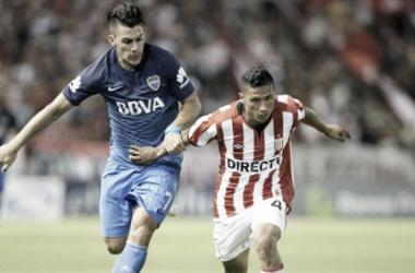 Iván Gómez en el partido frente a Boca del verano de 2017. Página: Diario Uno
