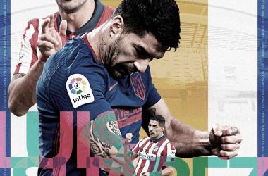 Luis Suárez lleva 11 goles en 14 partidos con el Atlético de Madrid. / Twitter: LaLiga oficial
