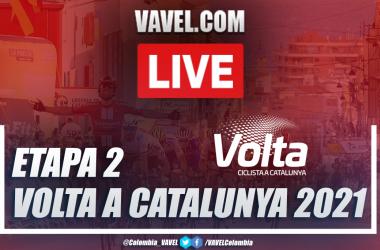 Resumen etapa 2 Volta a Catalunya 2021 en Banyoles (CRI)