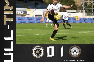 Colpaccio dell'Udinese: Spezia battuto 0-1 grazie a Rodrigo De Paul